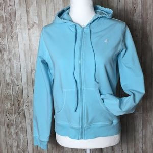 Lilly Pulitzer Ocean Blue Zipped Hoodie Size M